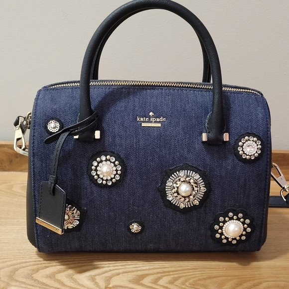 kate spade Cameron Street Embellished Denim Purse